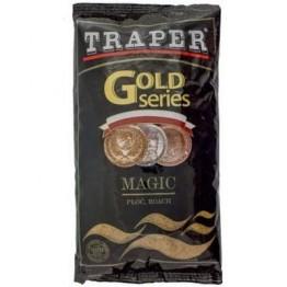 Прикормка TRAPER GOLD 1 кг Magic (коричневый, красный, черный)